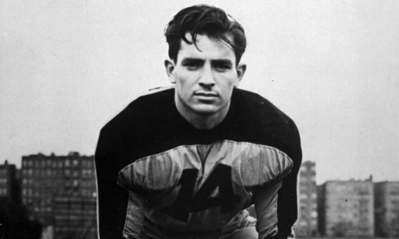 Jack Kerouac on the football field